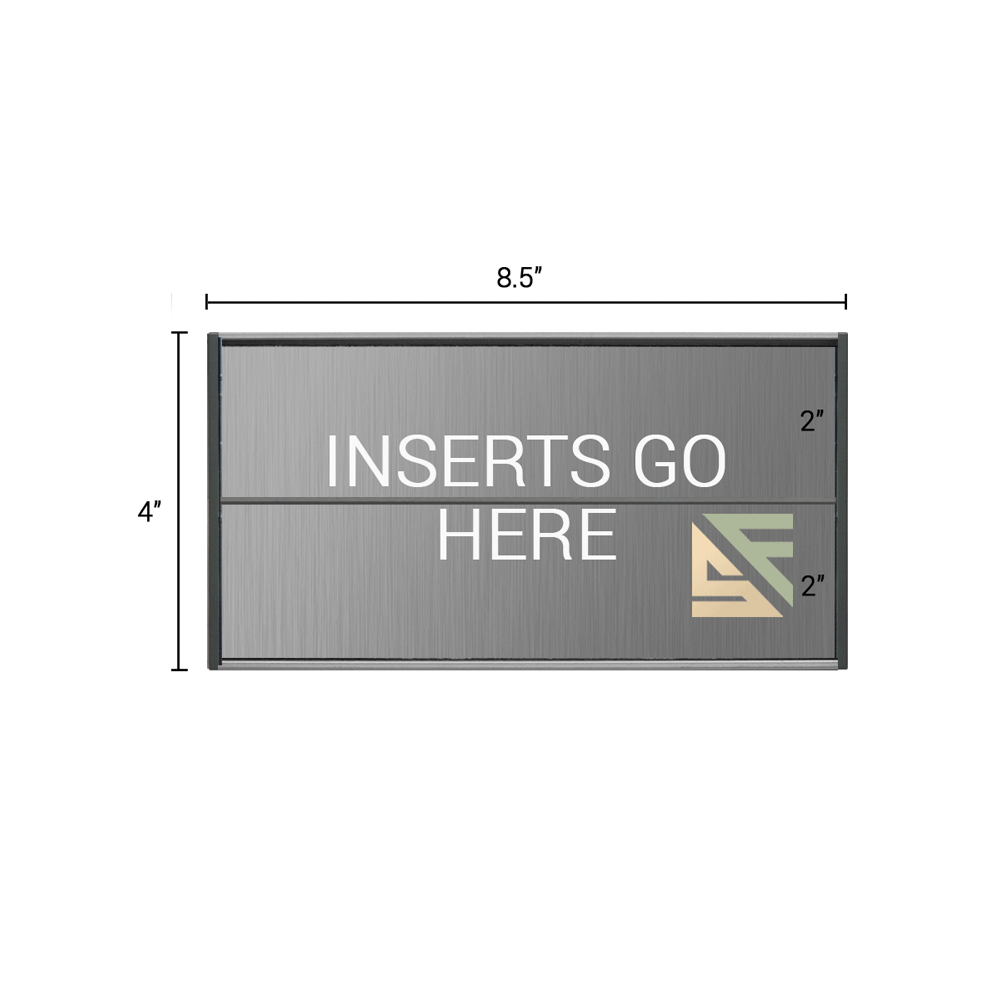 """Office Sign - 4""""H x 8.5""""W (2"""" Top) - WFS2E71"""