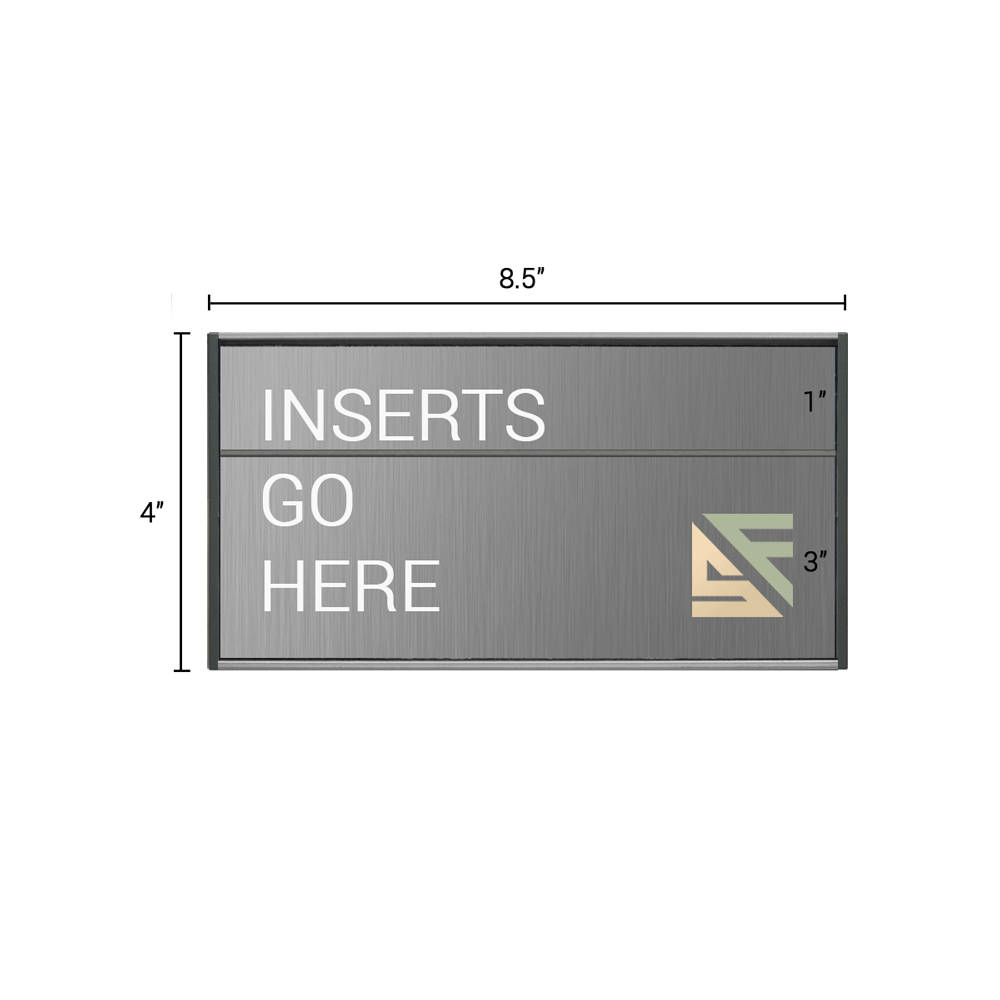 """Office Sign - 4""""H x 8.5""""W (1"""" Top) - WFS2E72"""