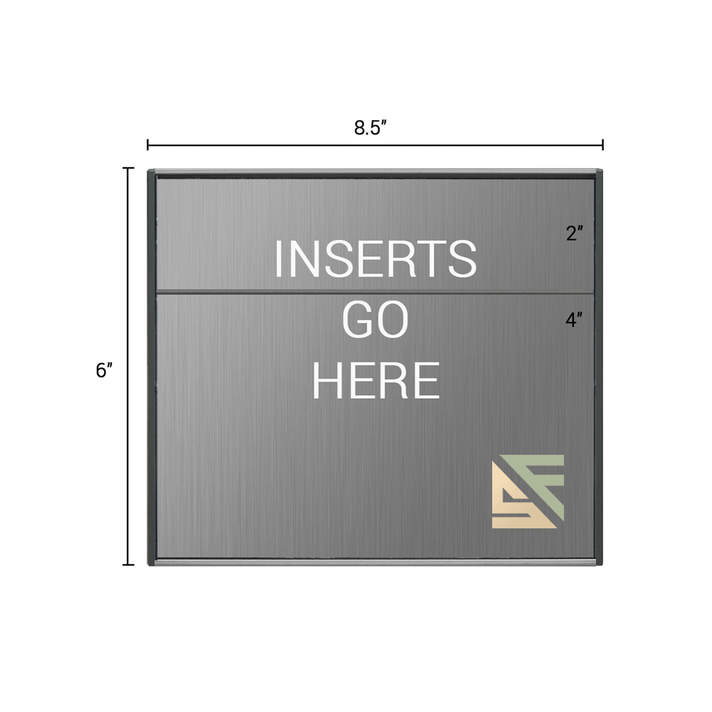 """Office Sign - 6""""H x 8.5""""W (2"""" Top) - WFS2E75"""