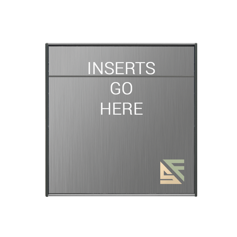 """Office Sign - 8""""H x 8.5""""W (2"""" Top) - WFS2E77"""
