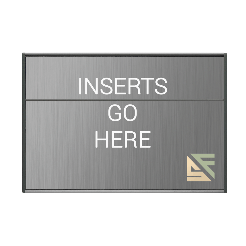 """Office Sign - 6""""H x 11""""W (2"""" Top) - WFS2E91"""