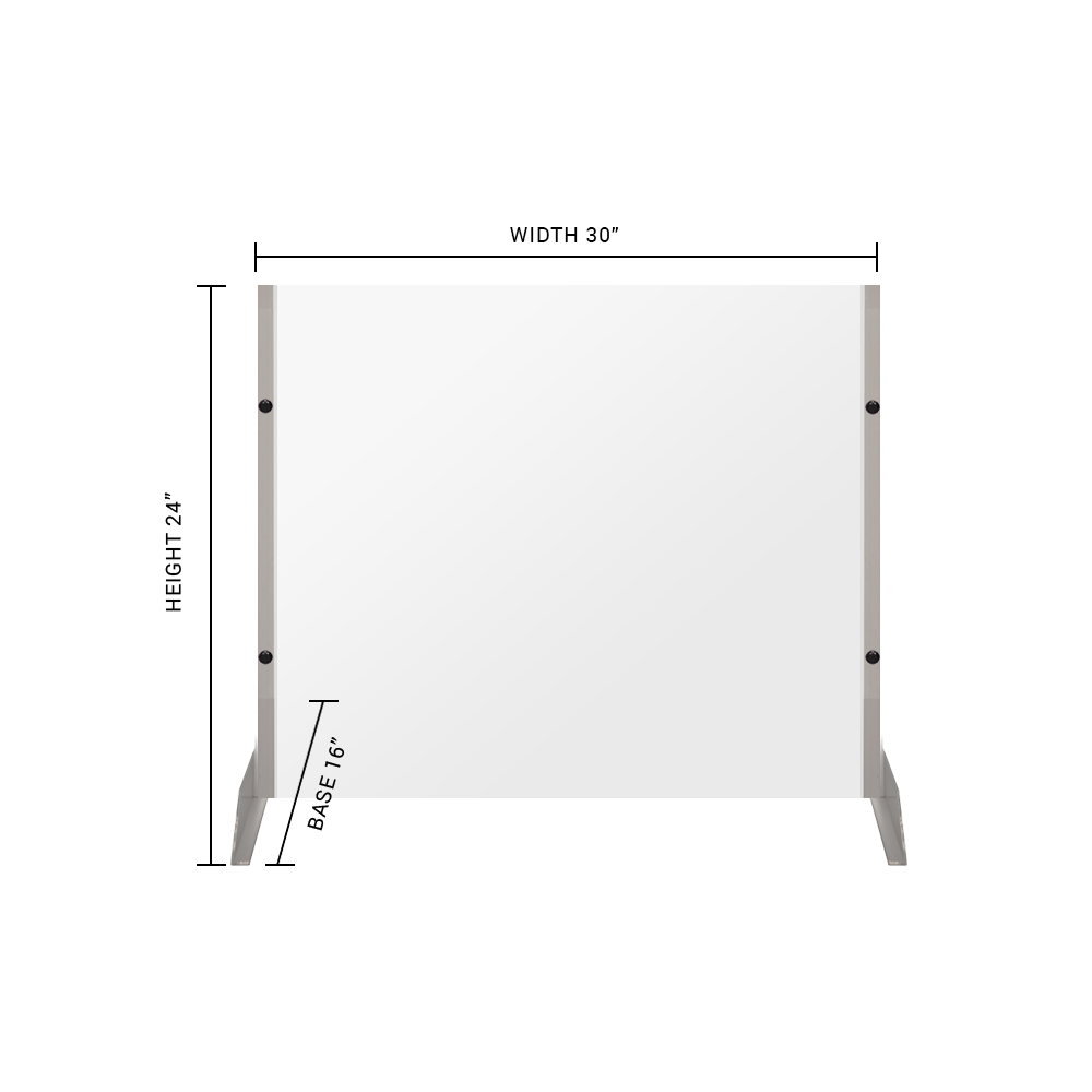 "Clear Acrylic Sneeze Guard - 24""H x 30""W - SG03"