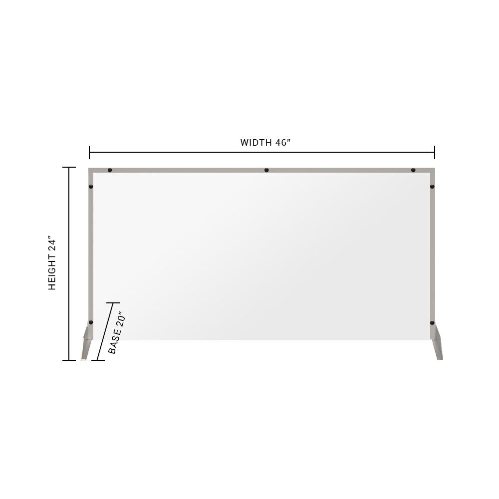"Clear Acrylic Sneeze Guard - 24""H x 46""W - SG07"