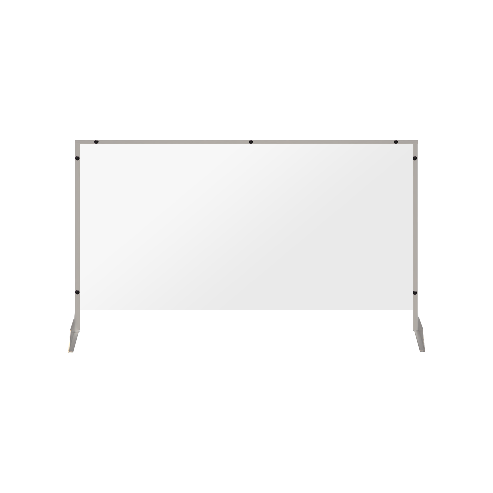 "Clear Acrylic Sneeze Guard with 4"" Pass-Thru Slot - 28""H x 46""W - SG08"