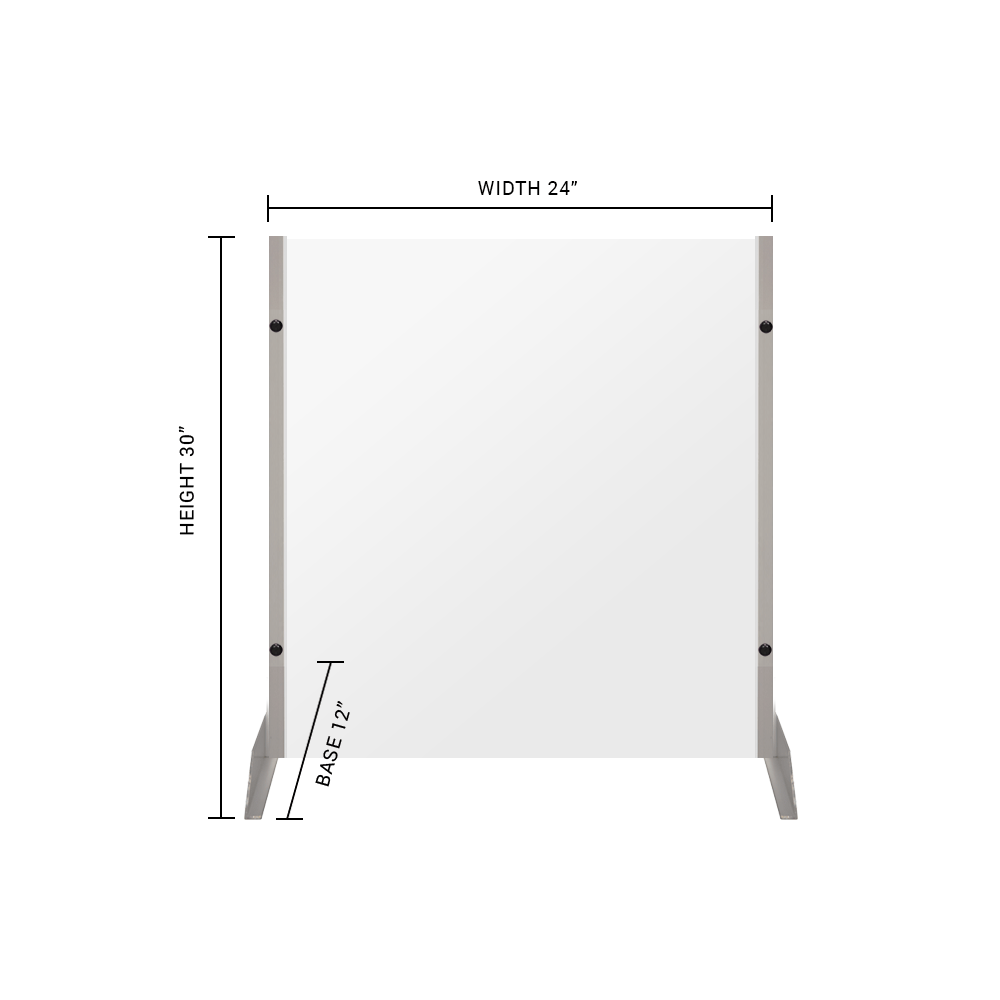 "Clear Acrylic Sneeze Guard - 30""H x 24""W - SG09"