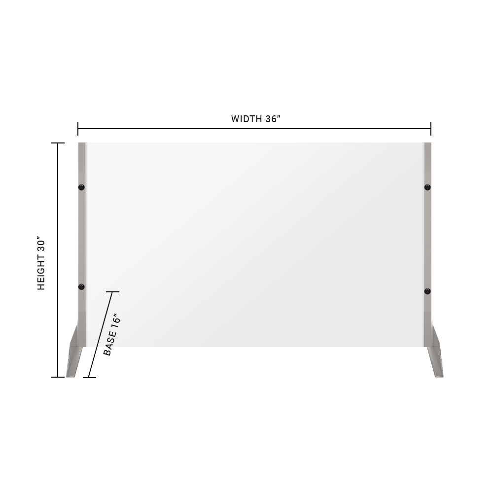 "Clear Acrylic Sneeze Guard - 30""H x 36""W - SG13"