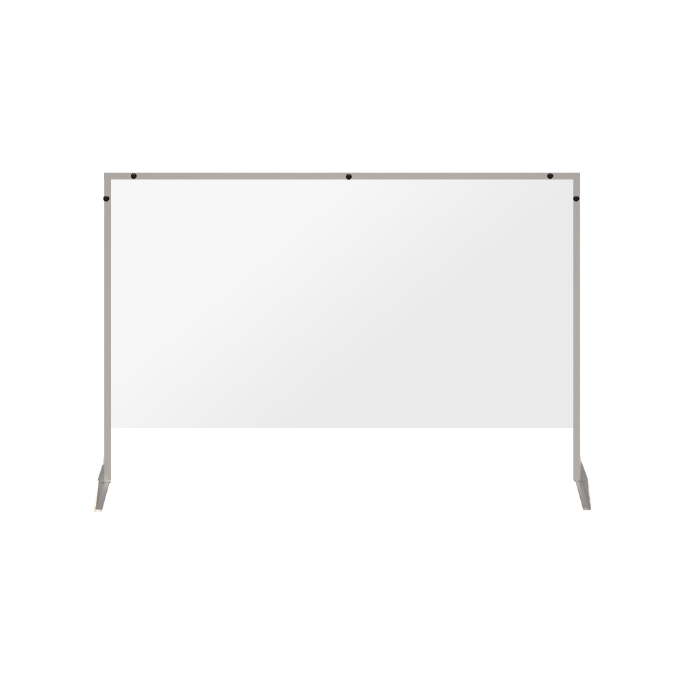"Clear Acrylic Sneeze Guard with 4"" Pass-Thru Slot - 40""H x 40""W - SG20"