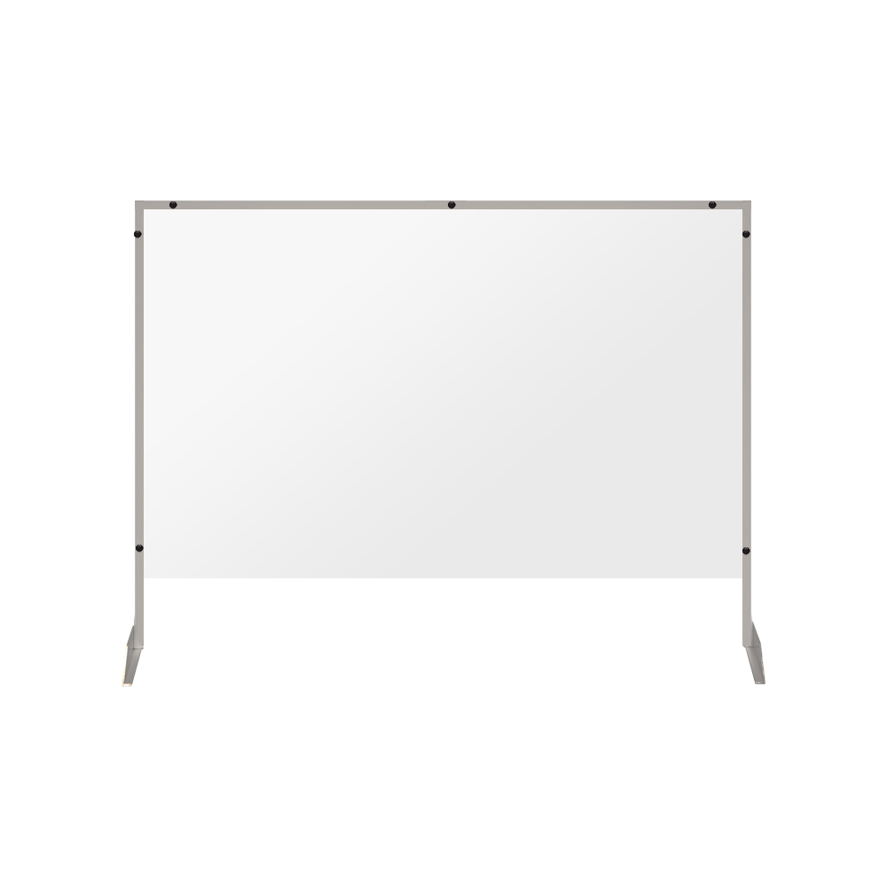 "Clear Acrylic Sneeze Guard with 4"" Pass-Thru Slot - 40""H x 46""W - SG22"