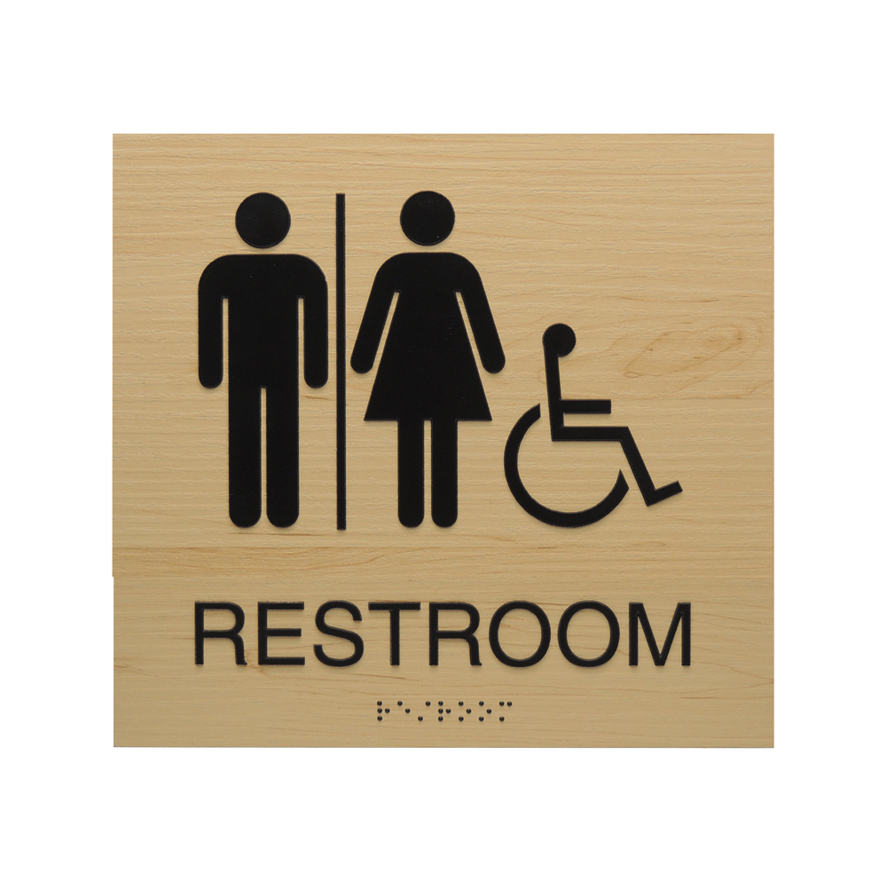 "ADA Braille Sign - 7.875""H x 7.875""W - BLACKBURN12"