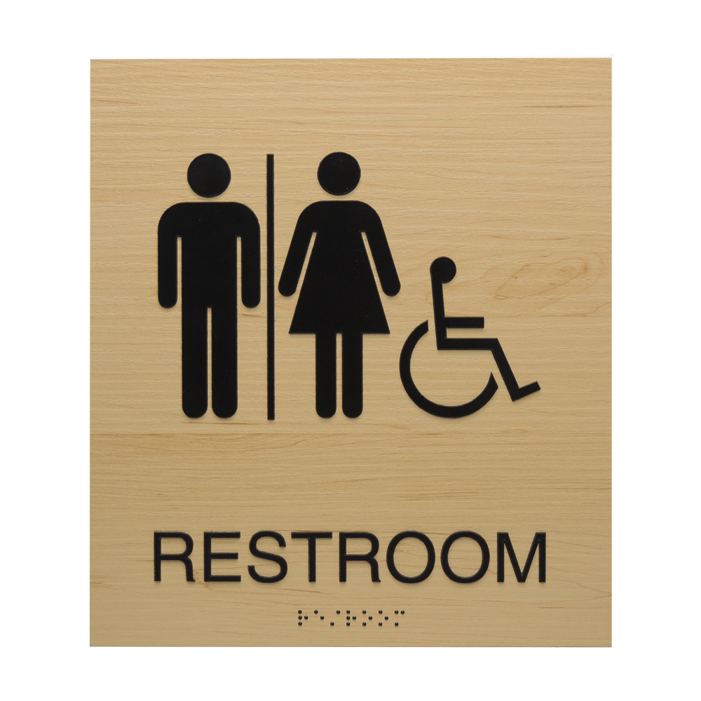 "ADA Braille Sign - 8.875""H x 7.875""W - BLACKBURN13"