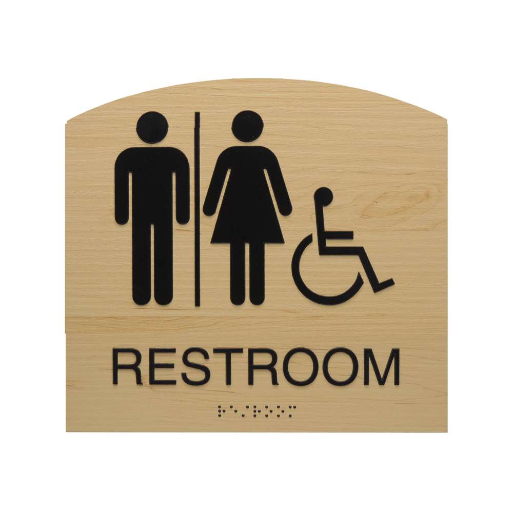 "ADA Braille Sign - 7.875""H x 7.875""W - BLACKBURN15"