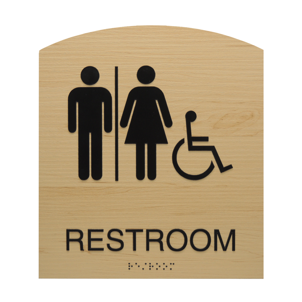 "ADA Braille Sign - 8.875""H x 7.875""W - BLACKBURN16"