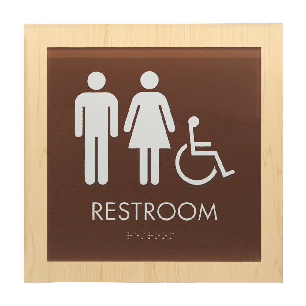 "ADA Braille Sign - 8.75""H x 8.75""W - CASCADE11"