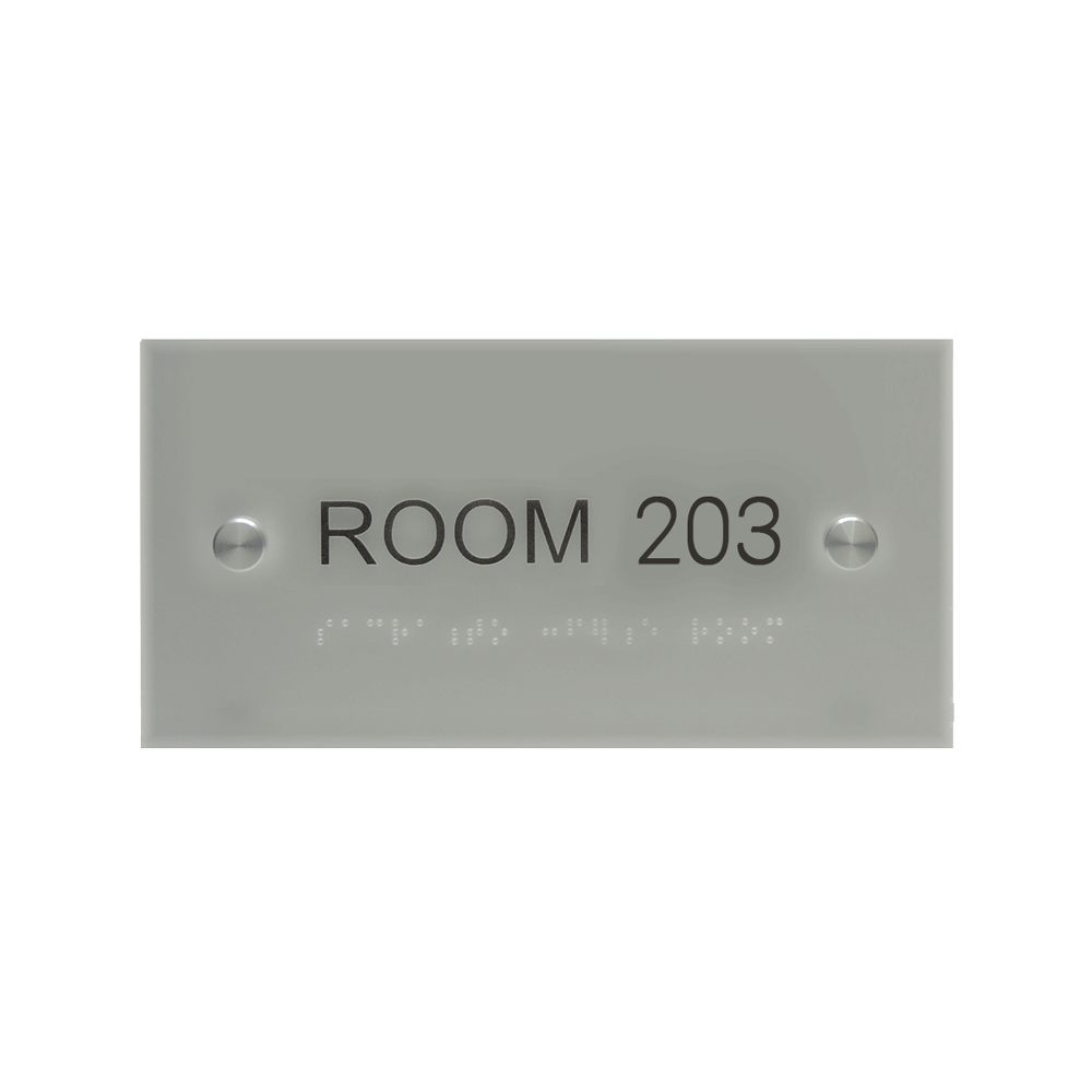 "ADA Braille Sign - 3.875""H x 7.875""W - DENALI11"