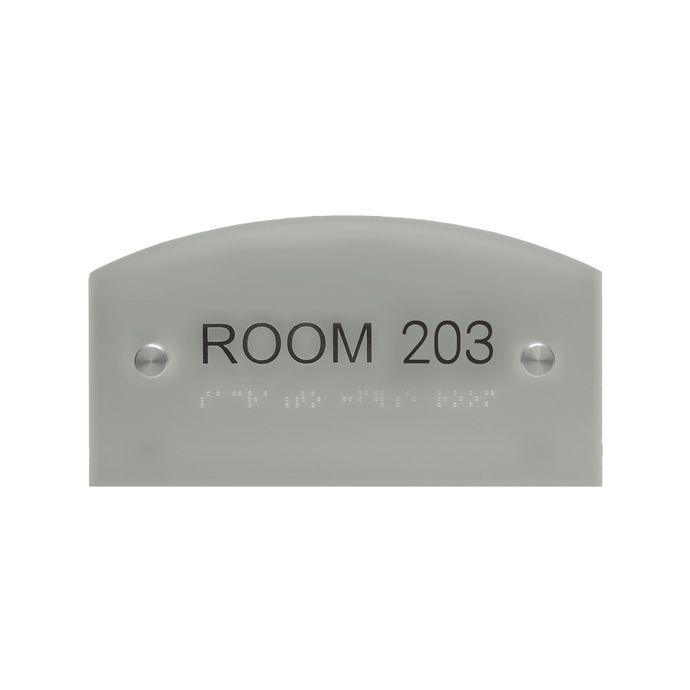 "ADA Braille Sign - 3.875""H x 7.875""W - DENALI14"