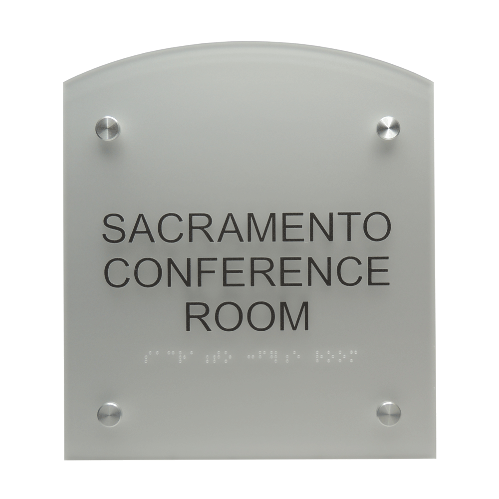 "ADA Braille Sign - 8.875""H x 7.875""W - DENALI16"