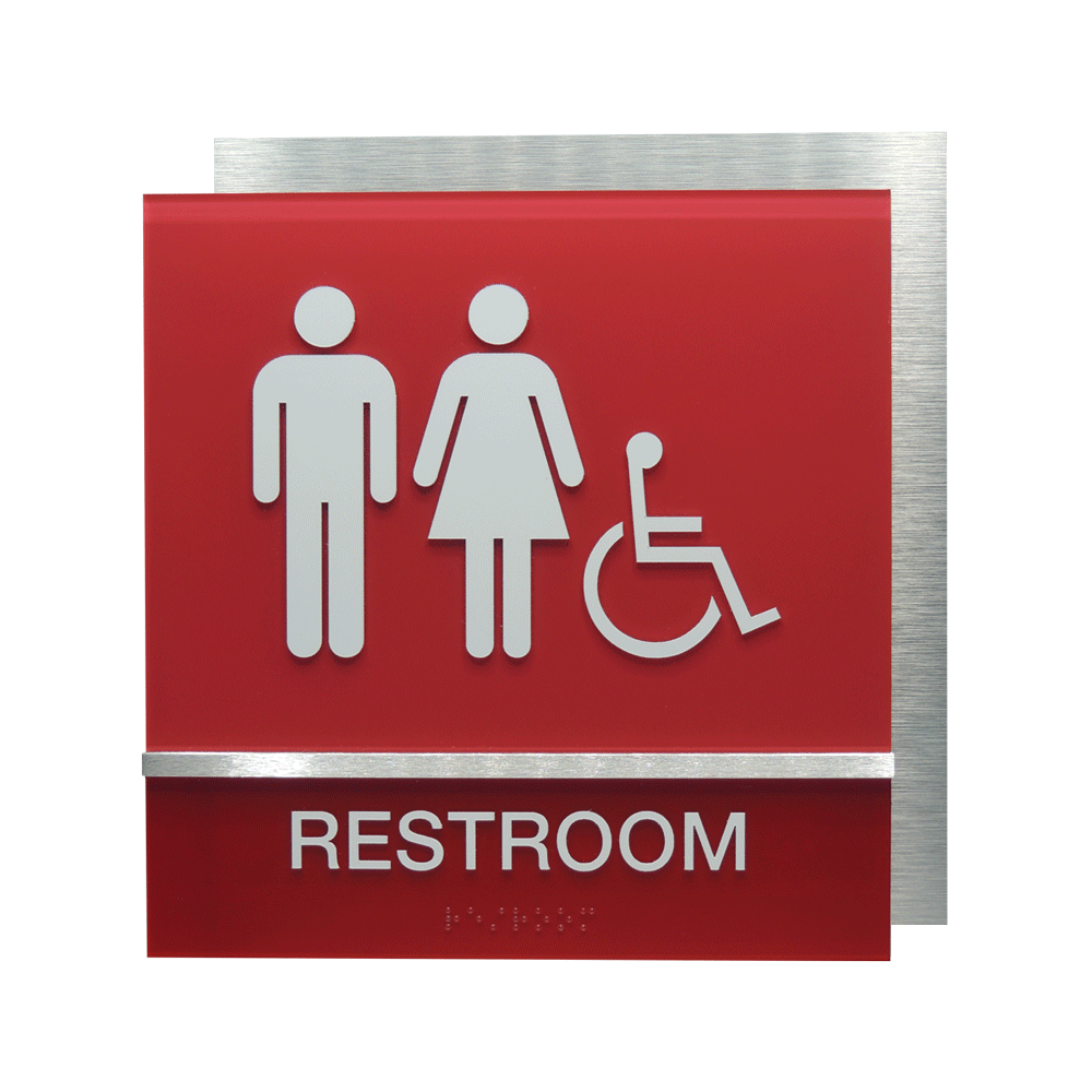 "ADA Braille Sign - 8.75""H x 8.5""W - SANFORD11"
