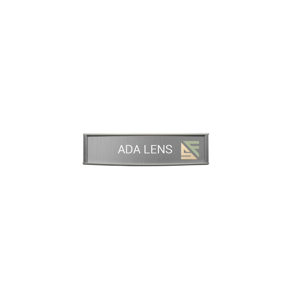 "ADA Braille Office Sign - 2""H x 8""W - VC-WFP38"