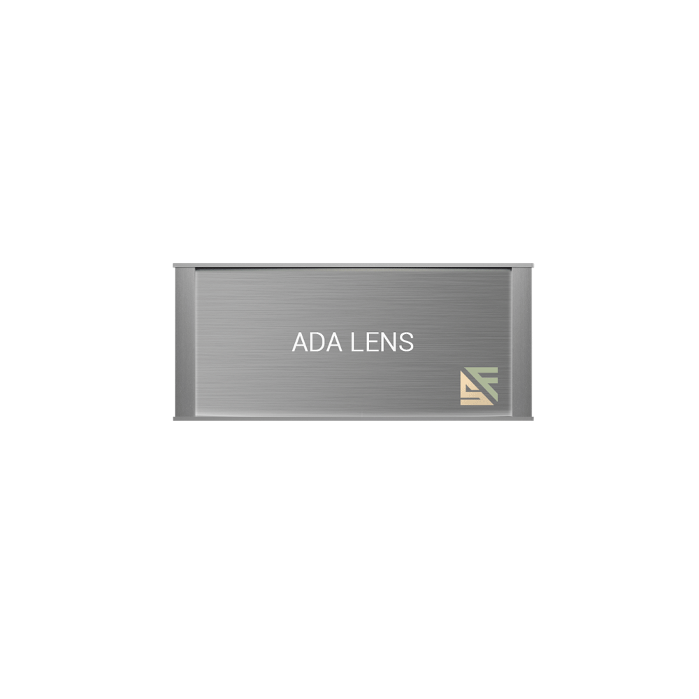 "ADA Braille Office Sign - 4""H x 9.25""W - VP-WFNP74"